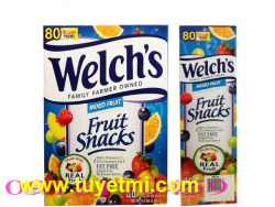 Kẹo dẻo trái cây Welch\'s Fruit Snacks Mixed Fruit 80 gói USA