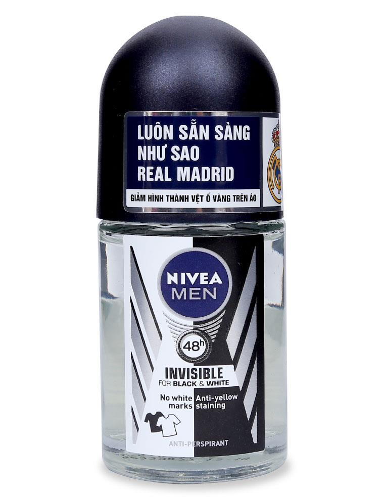 Lăn Khử Mùi Nivea Men Black & White 48H 12ml