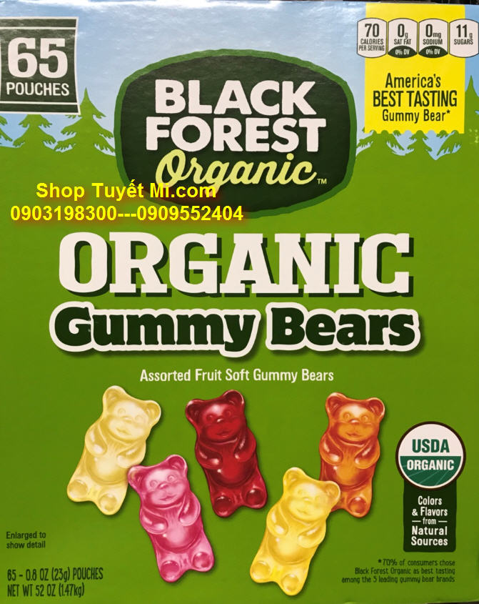Kẹo dẻo Gummy bears Black forest 23gr